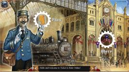In game image of Ticket to Ride on the Valve Steam.