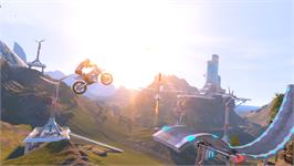 In game image of Trials Fusion on the Valve Steam.