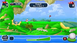In game image of Worms Crazy Golf on the Valve Steam.