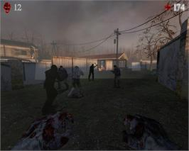 In game image of Zombie Panic! Source on the Valve Steam.