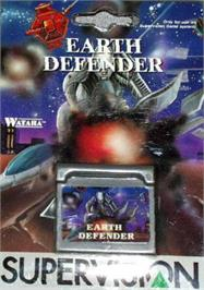 Box cover for Earth Defender on the Watara Supervision.