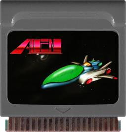Cartridge artwork for Alien on the Watara Supervision.
