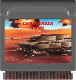 Cartridge artwork for Challenger Tank on the Watara Supervision.