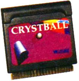 Cartridge artwork for Crystball on the Watara Supervision.