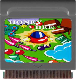 Cartridge artwork for Honey Bee on the Watara Supervision.