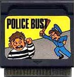 Cartridge artwork for Police Bust on the Watara Supervision.