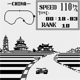 In game image of Grand Prix on the Watara Supervision.