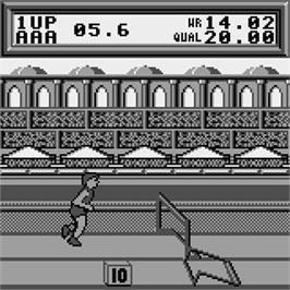 In game image of Olympic Trials on the Watara Supervision.