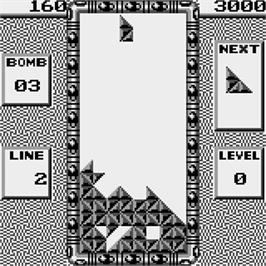 In game image of Pyramid on the Watara Supervision.