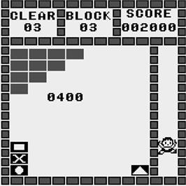 In game image of Super Block on the Watara Supervision.