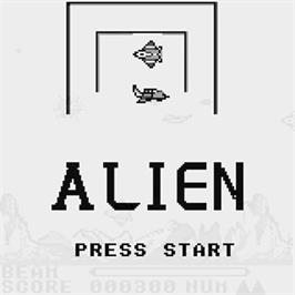 Title screen of Alien on the Watara Supervision.
