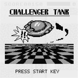 Title screen of Challenger Tank on the Watara Supervision.