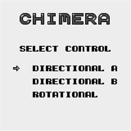 Title screen of Chimera on the Watara Supervision.