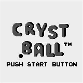 Title screen of Crystball on the Watara Supervision.