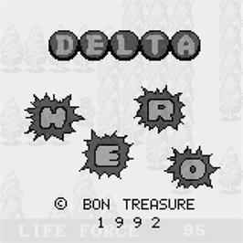 Title screen of Delta Hero on the Watara Supervision.