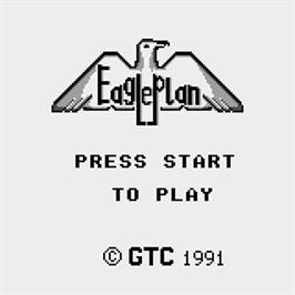 Title screen of Eagle Plan on the Watara Supervision.