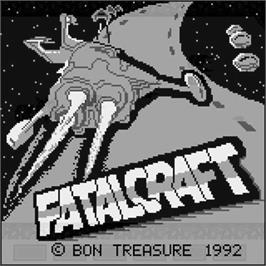 Title screen of Fatal Craft on the Watara Supervision.