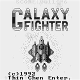 Title screen of Galaxy Fighter on the Watara Supervision.