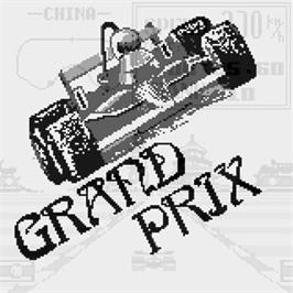 Title screen of Grand Prix on the Watara Supervision.