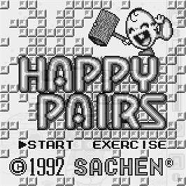 Title screen of Happy Pairs on the Watara Supervision.