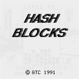 Title screen of Hash Blocks on the Watara Supervision.