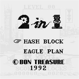 Title screen of Hash Blocks & Eagle Plan on the Watara Supervision.