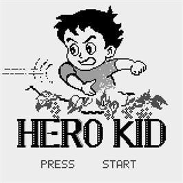 Title screen of Hero Kid on the Watara Supervision.