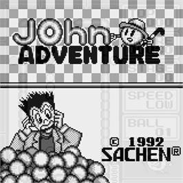 Title screen of John Adventure on the Watara Supervision.