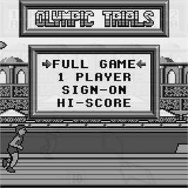 Title screen of Olympic Trials on the Watara Supervision.