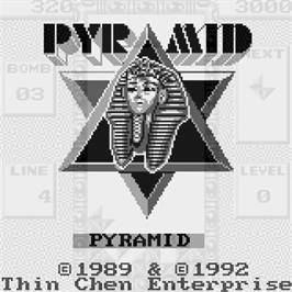 Title screen of Pyramid on the Watara Supervision.