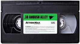 Cartridge artwork for .38 Ambush Alley on the WoW Action Max.