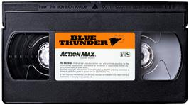 Cartridge artwork for Blue Thunder on the WoW Action Max.