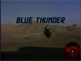Title screen of Blue Thunder on the WoW Action Max.