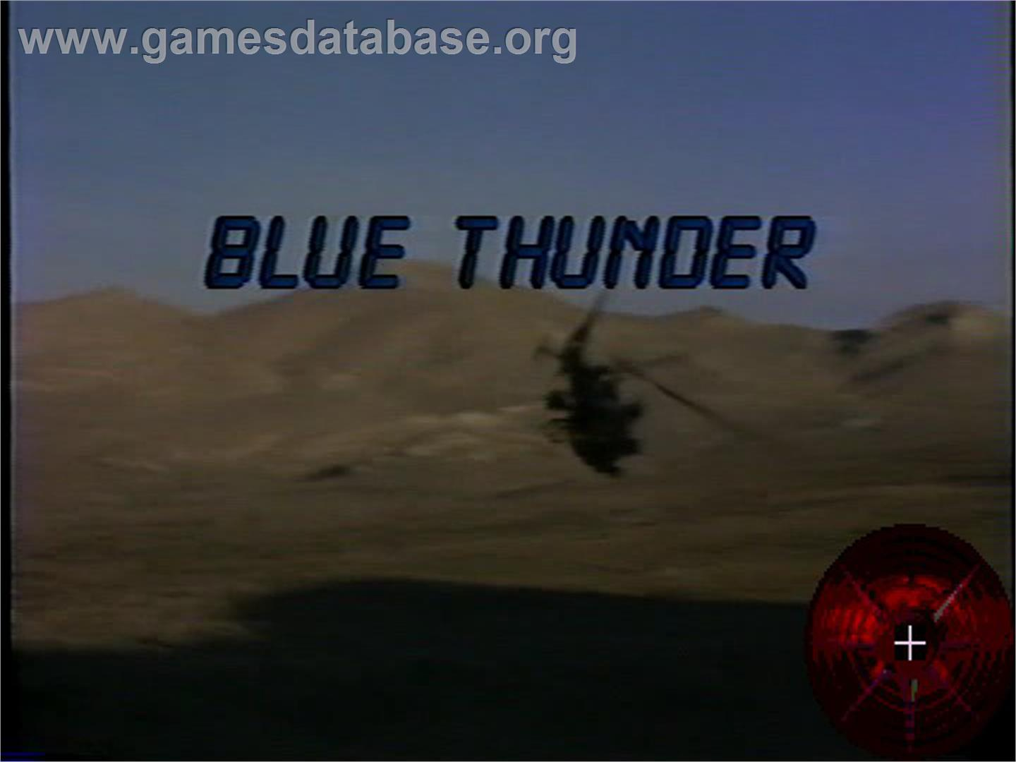 Blue Thunder - WoW Action Max - Artwork - Title Screen